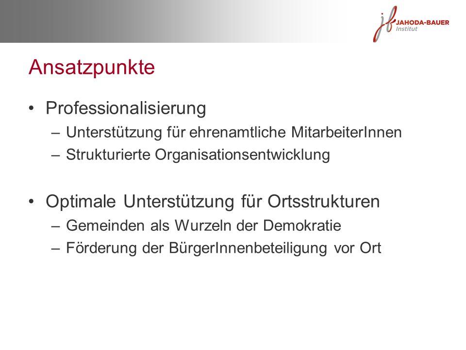 Ansatzpunkte Professionalisierung
