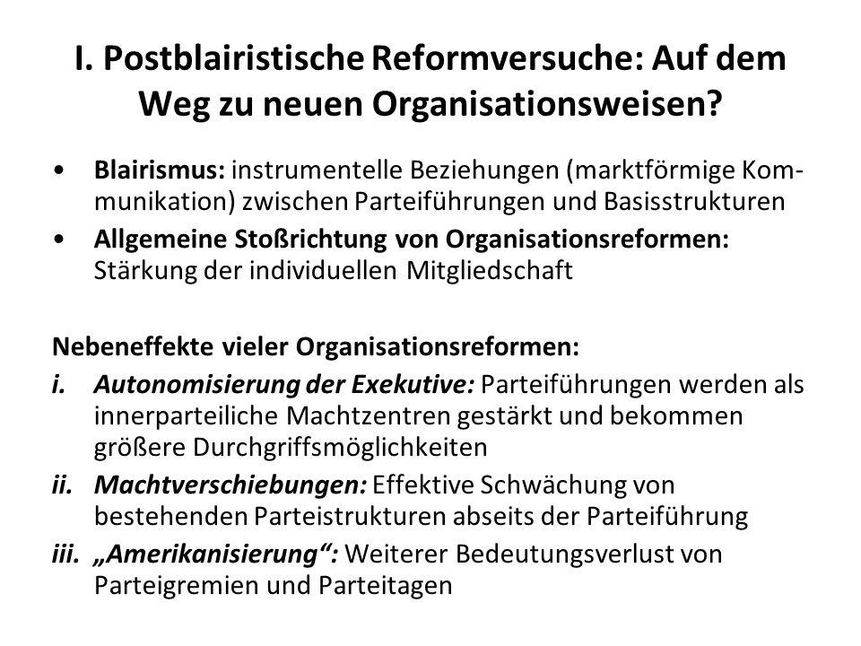 I. Postblairistische Reformversuche: Auf dem Weg zu neuen Organisationsweisen