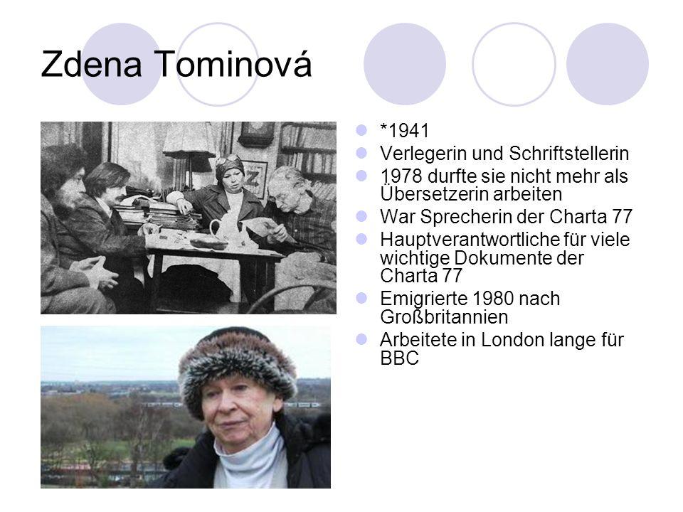 Zdena Tominová *1941 Verlegerin und Schriftstellerin
