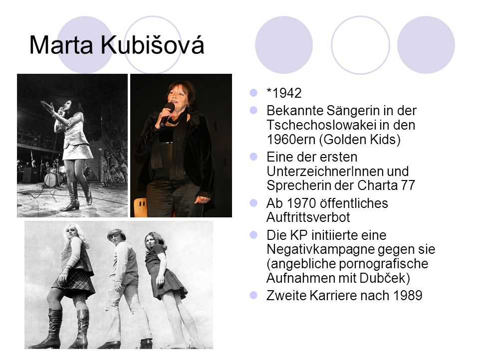 Marta Kubišová *1942. Bekannte Sängerin in der Tschechoslowakei in den 1960ern (Golden Kids)