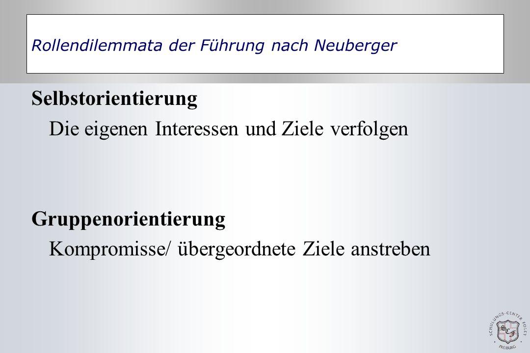 Rollendilemmata der Führung nach Neuberger