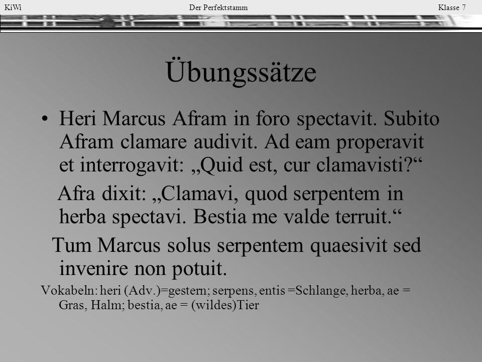 """Übungssätze Heri Marcus Afram in foro spectavit. Subito Afram clamare audivit. Ad eam properavit et interrogavit: """"Quid est, cur clamavisti"""