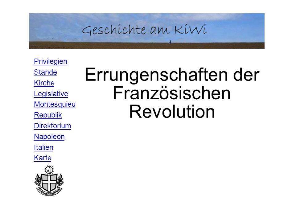 Errungenschaften der Französischen Revolution