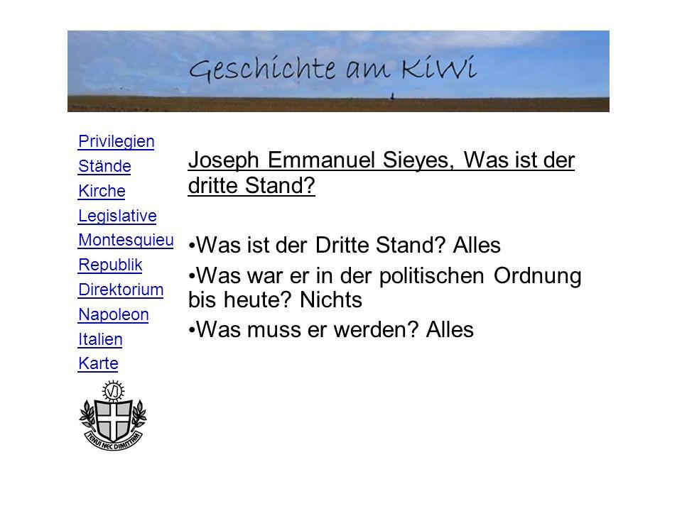 Joseph Emmanuel Sieyes, Was ist der dritte Stand