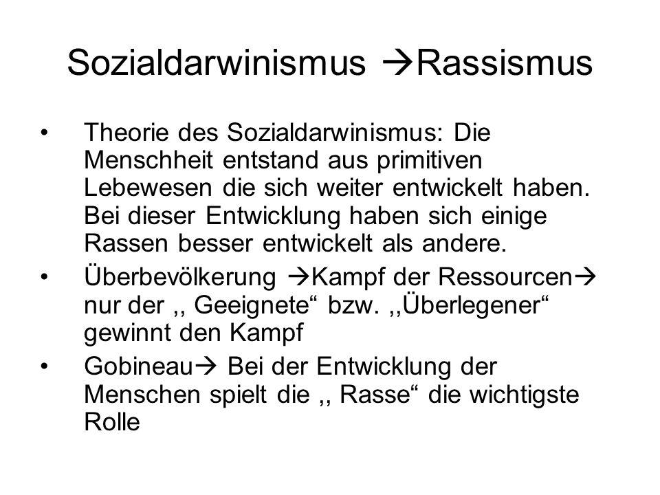 Sozialdarwinismus Rassismus