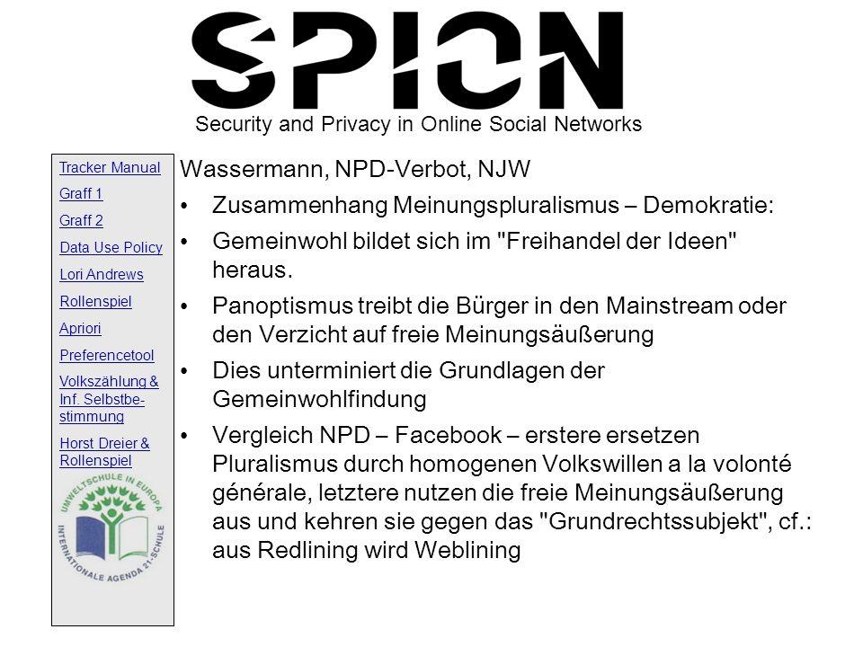 Wassermann, NPD-Verbot, NJW