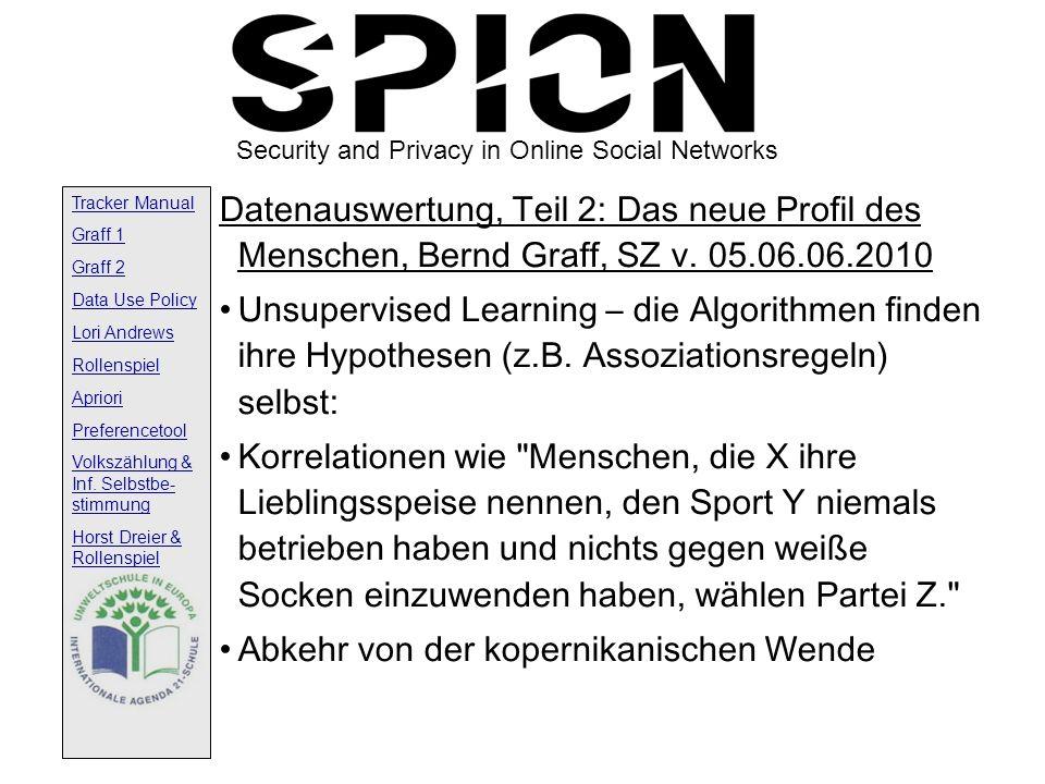 Datenauswertung, Teil 2: Das neue Profil des Menschen, Bernd Graff, SZ v. 05.06.06.2010
