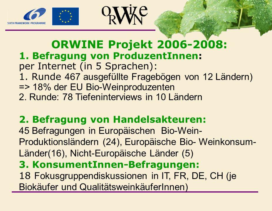 ORWINE Projekt 2006-2008: