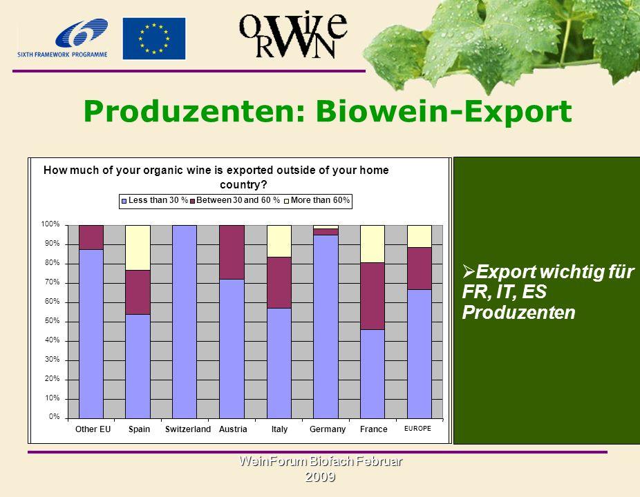 Produzenten: Biowein-Export