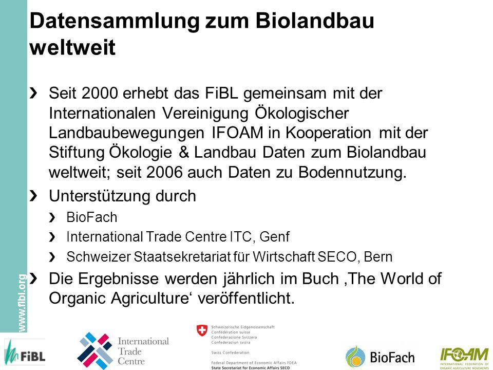 Datensammlung zum Biolandbau weltweit