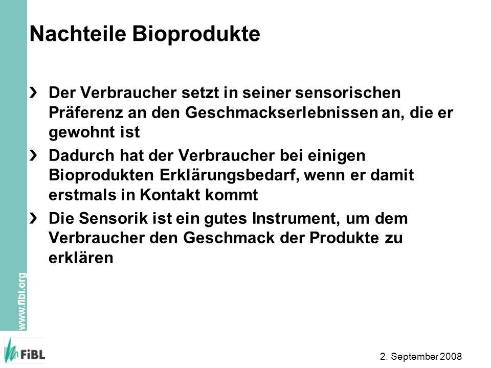 Nachteile Bioprodukte