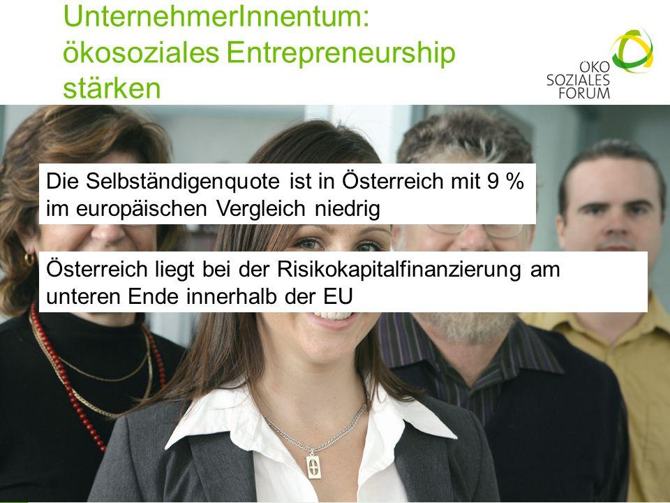UnternehmerInnentum: ökosoziales Entrepreneurship stärken