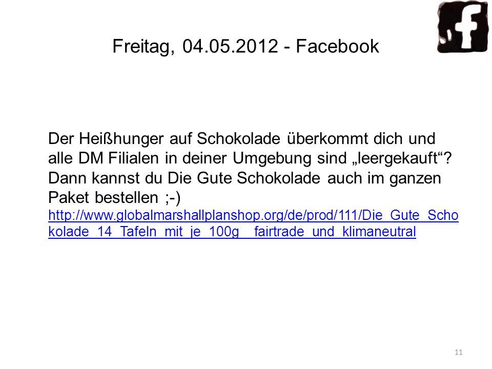 Freitag, 04.05.2012 - Facebook