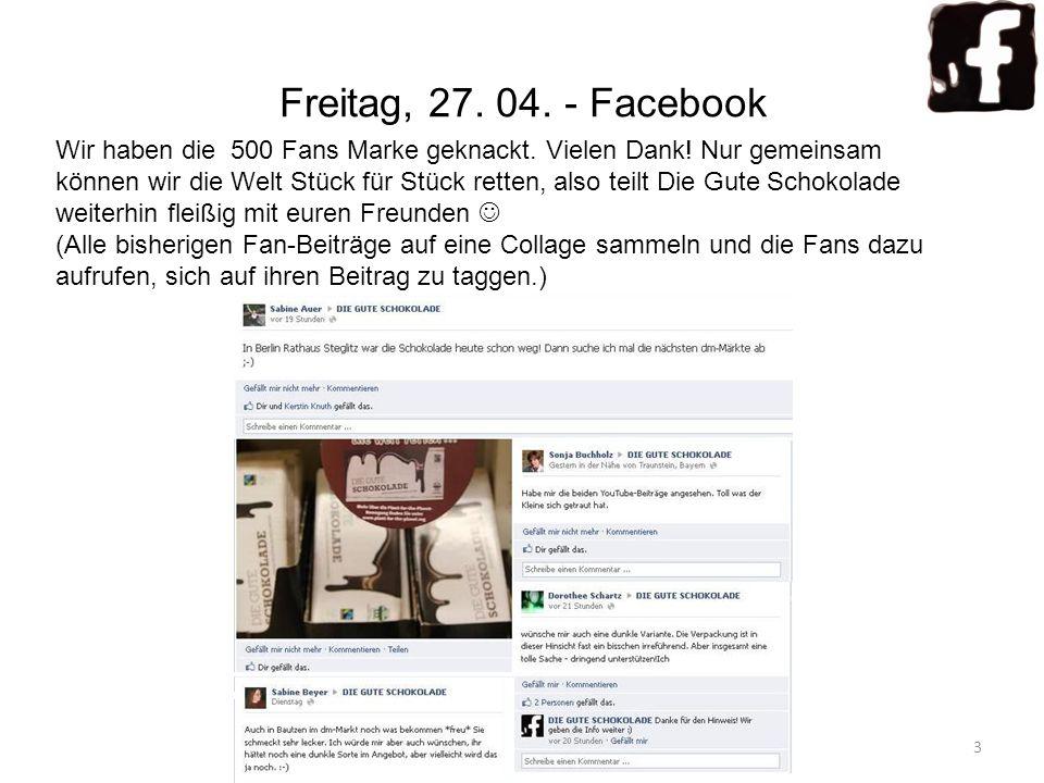 Freitag, 27. 04. - Facebook