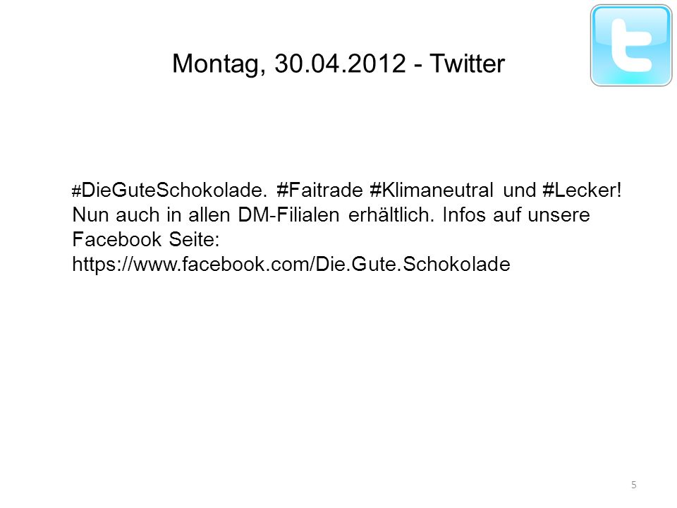 Montag, 30.04.2012 - Twitter