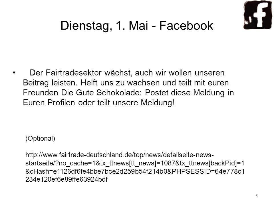 Dienstag, 1. Mai - Facebook