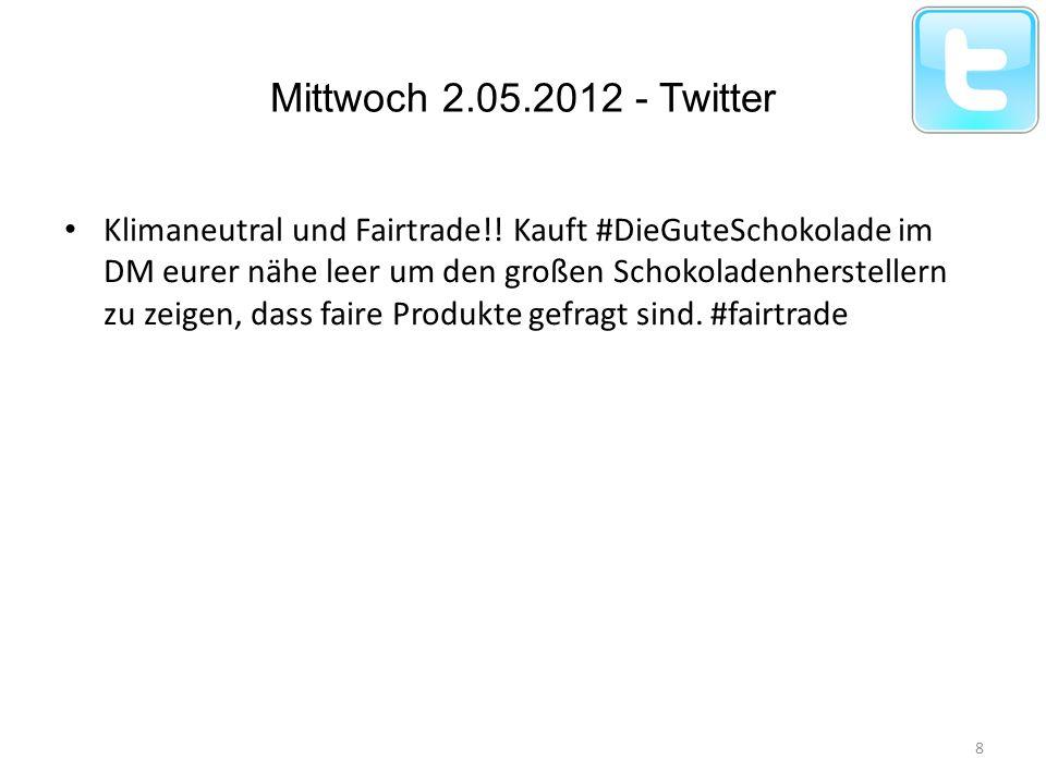 Mittwoch 2.05.2012 - Twitter