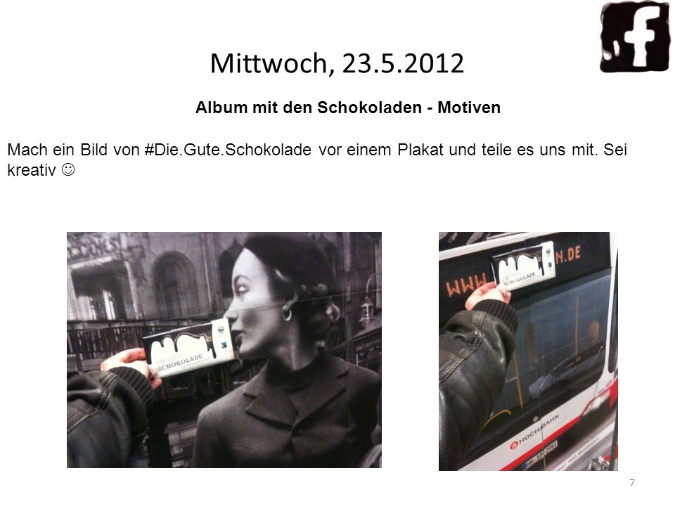 Mittwoch, 23.5.2012 Album mit den Schokoladen - Motiven