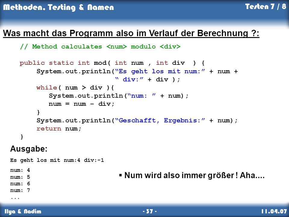 Was macht das Programm also im Verlauf der Berechnung :