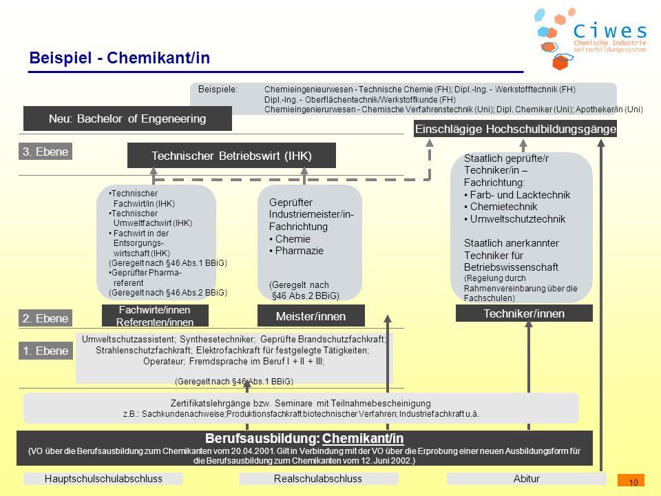 Beispiel - Chemikant/in