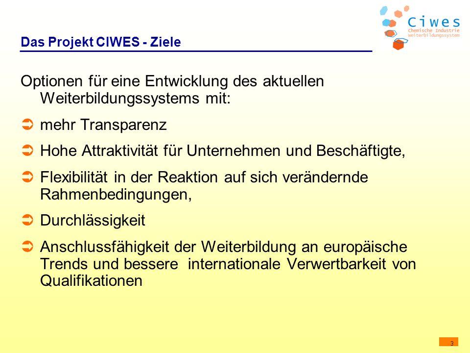 Das Projekt CIWES - Ziele