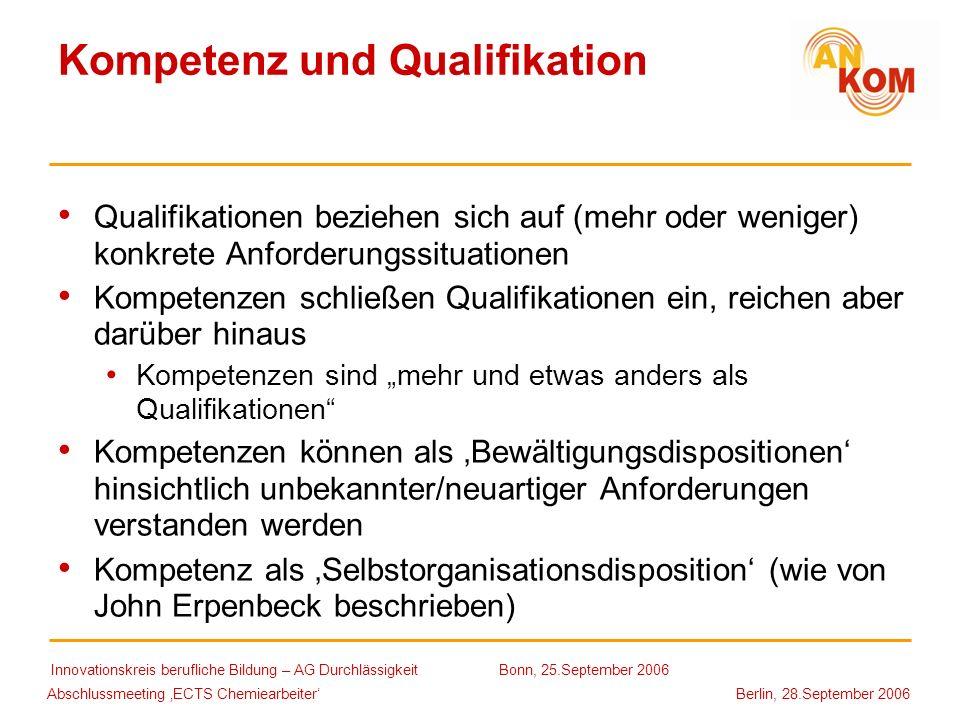 Kompetenz und Qualifikation
