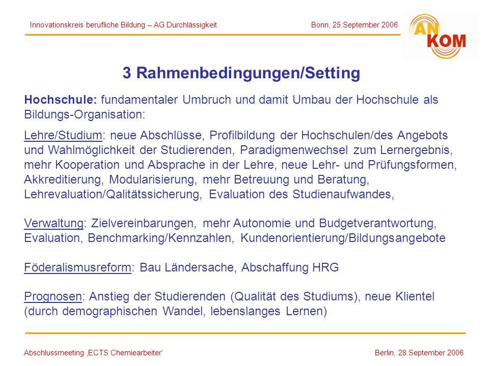 3 Rahmenbedingungen/Setting