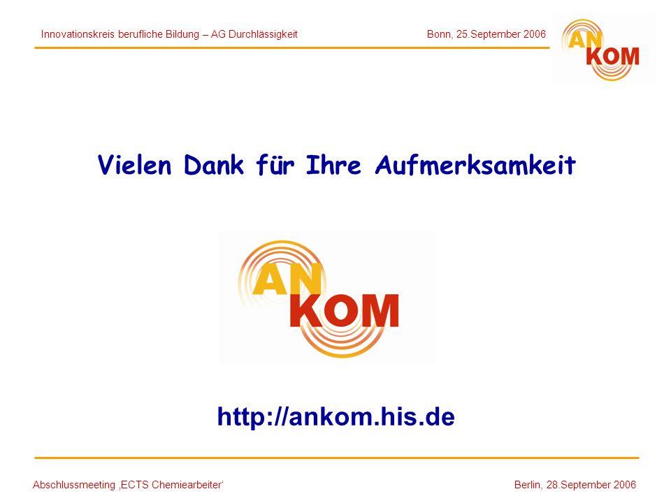 Vielen Dank für Ihre Aufmerksamkeit http://ankom.his.de