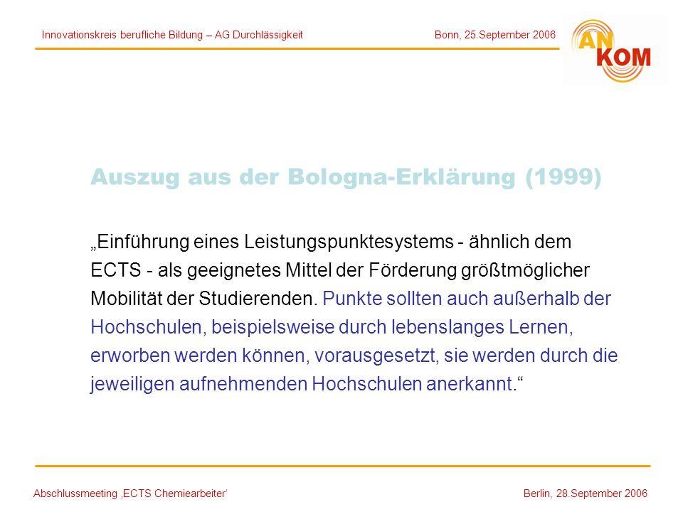 Auszug aus der Bologna-Erklärung (1999)