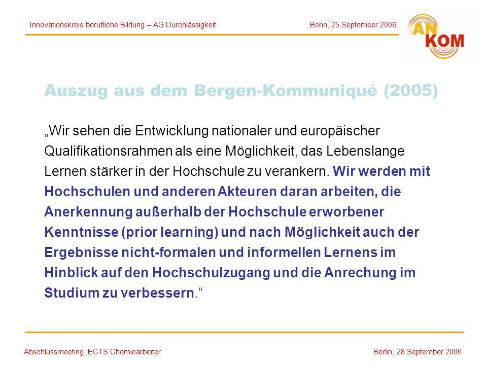 Auszug aus dem Bergen-Kommuniqué (2005)