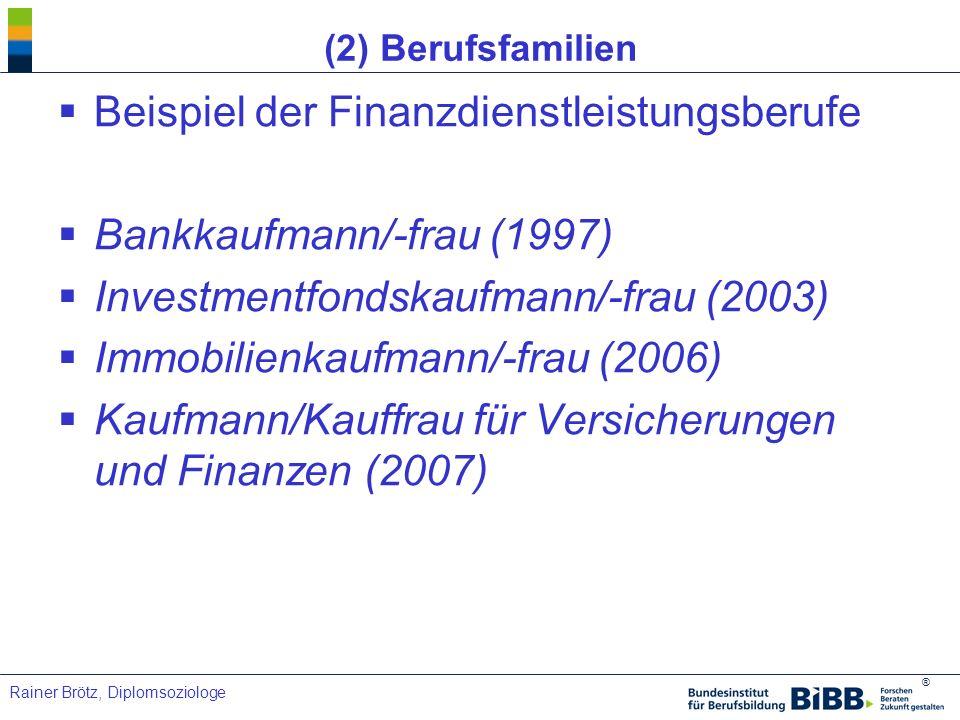 Beispiel der Finanzdienstleistungsberufe Bankkaufmann/-frau (1997)
