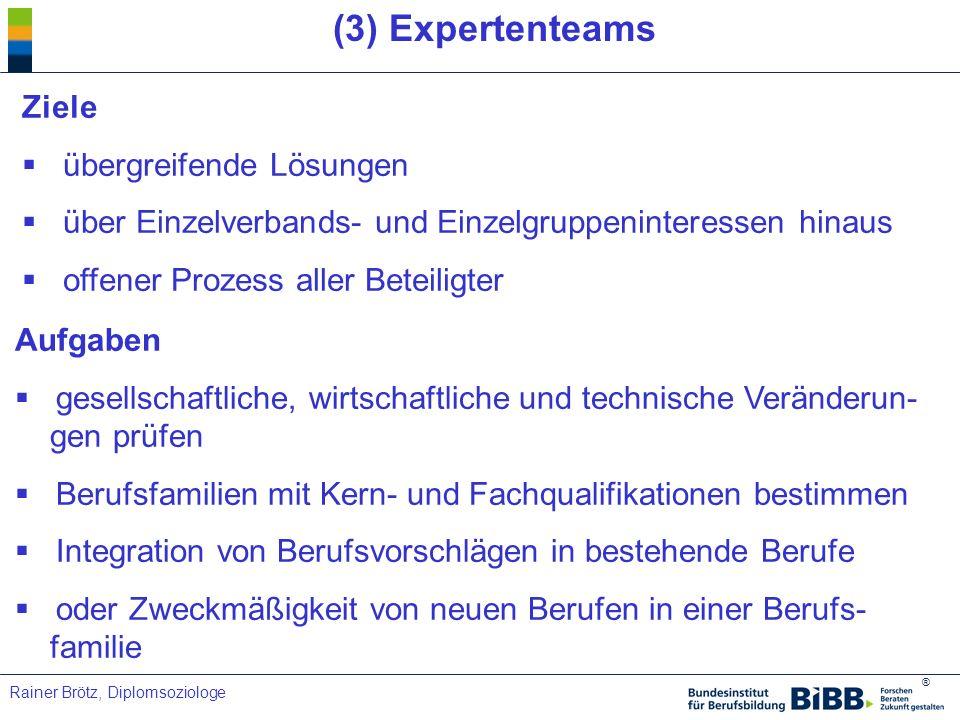 (3) Expertenteams Ziele übergreifende Lösungen