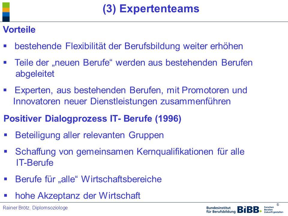(3) Expertenteams Vorteile