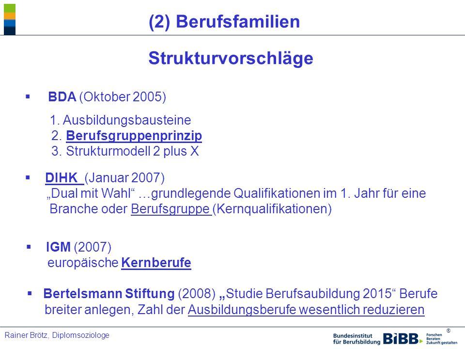(2) Berufsfamilien Strukturvorschläge BDA (Oktober 2005)