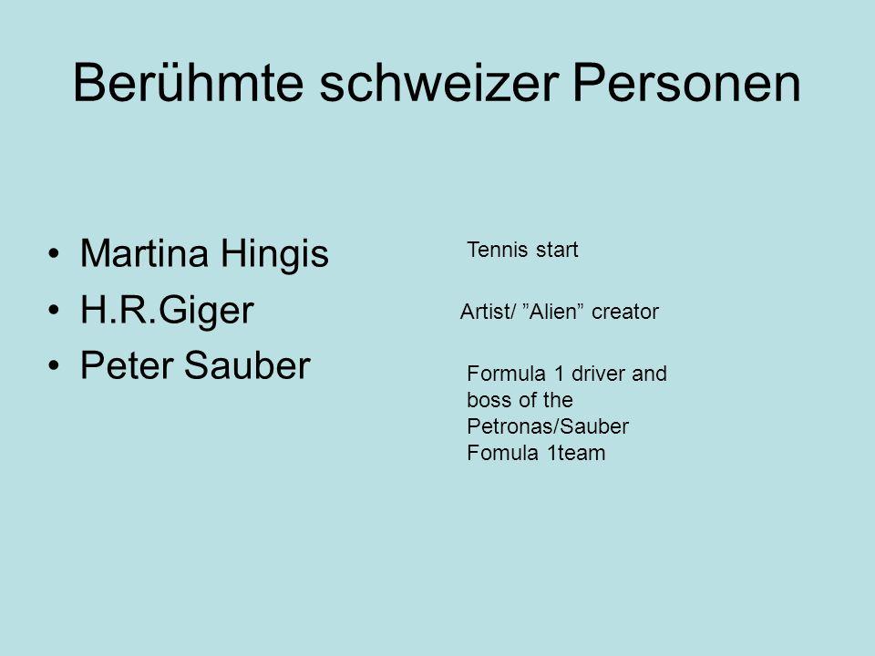 Berühmte schweizer Personen