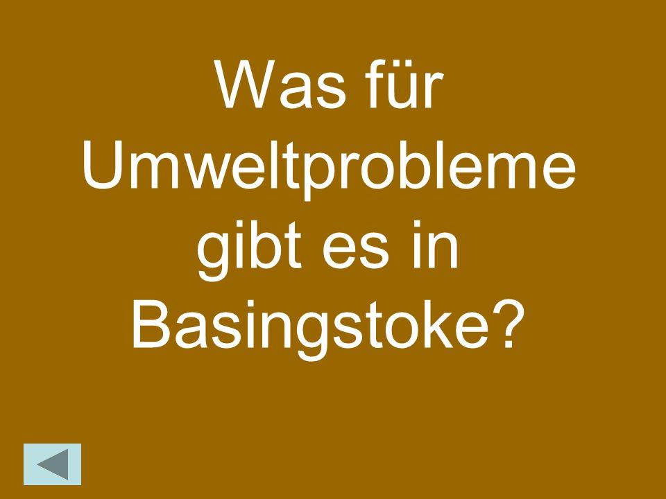 Was für Umweltprobleme gibt es in Basingstoke