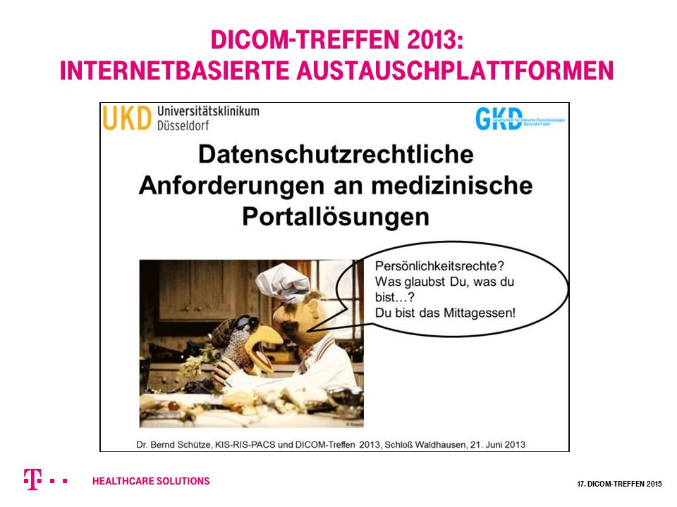 DICOM-Treffen 2013: Internetbasierte Austauschplattformen