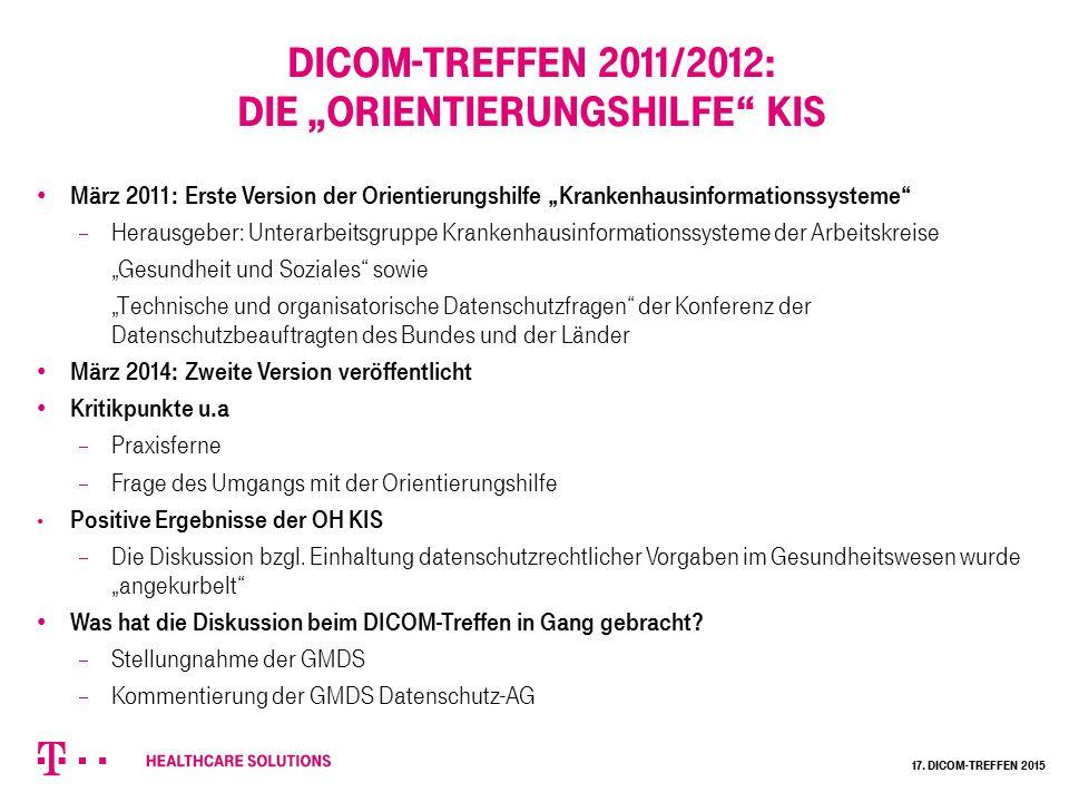 """DICOM-Treffen 2011/2012: Die """"Orientierungshilfe KIS"""