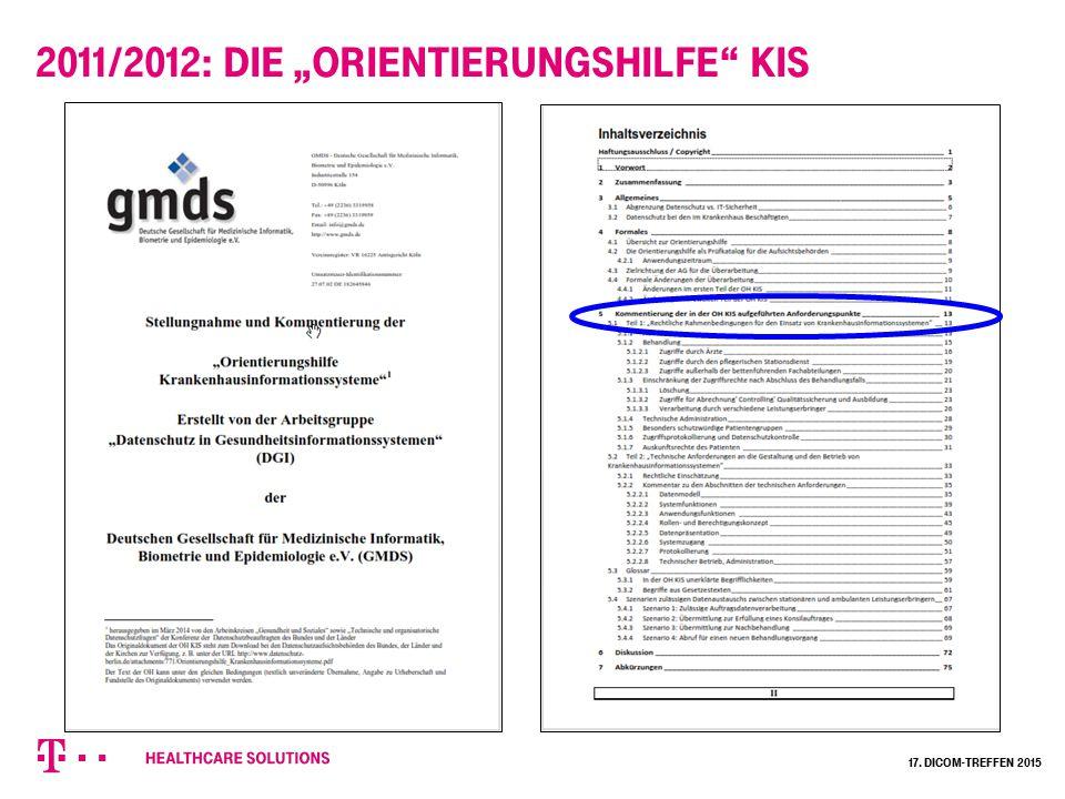 """2011/2012: Die """"Orientierungshilfe KIS"""