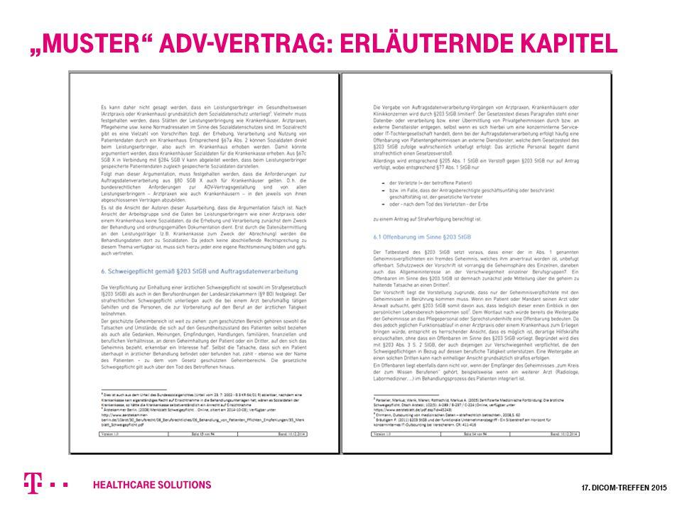 """""""Muster ADV-Vertrag: erläuternde Kapitel"""