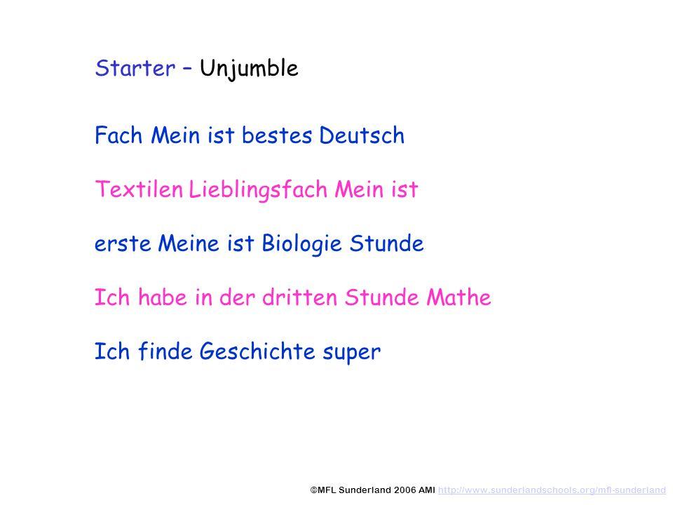 Fach Mein ist bestes Deutsch Textilen Lieblingsfach Mein ist