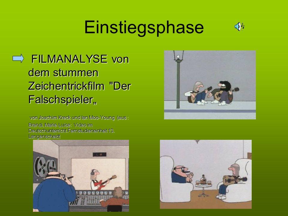 """Einstiegsphase FILMANALYSE von dem stummen Zeichentrickfilm Der Falschspieler"""""""