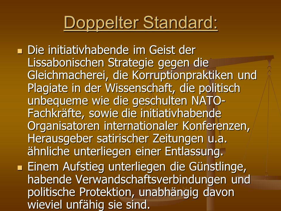 Doppelter Standard: