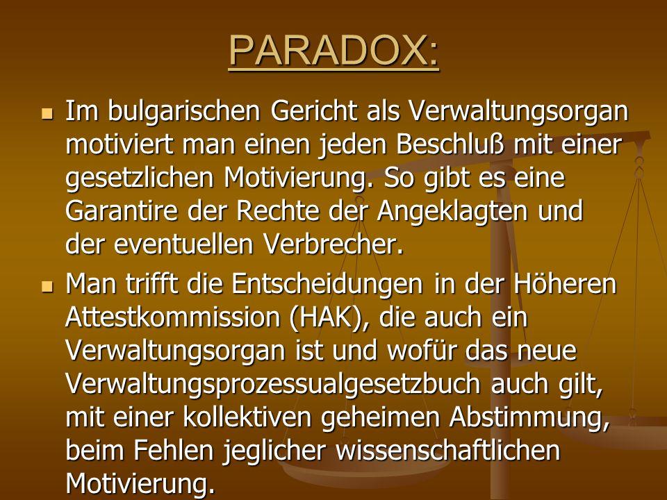 PARADOX: