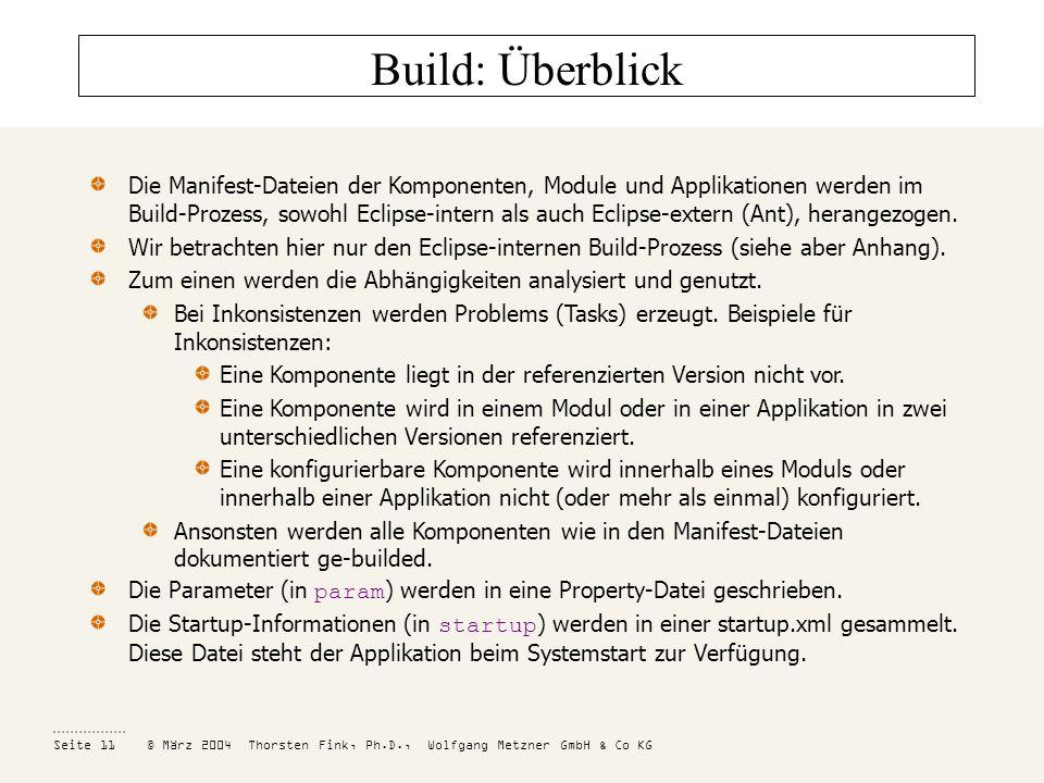 Build: Überblick