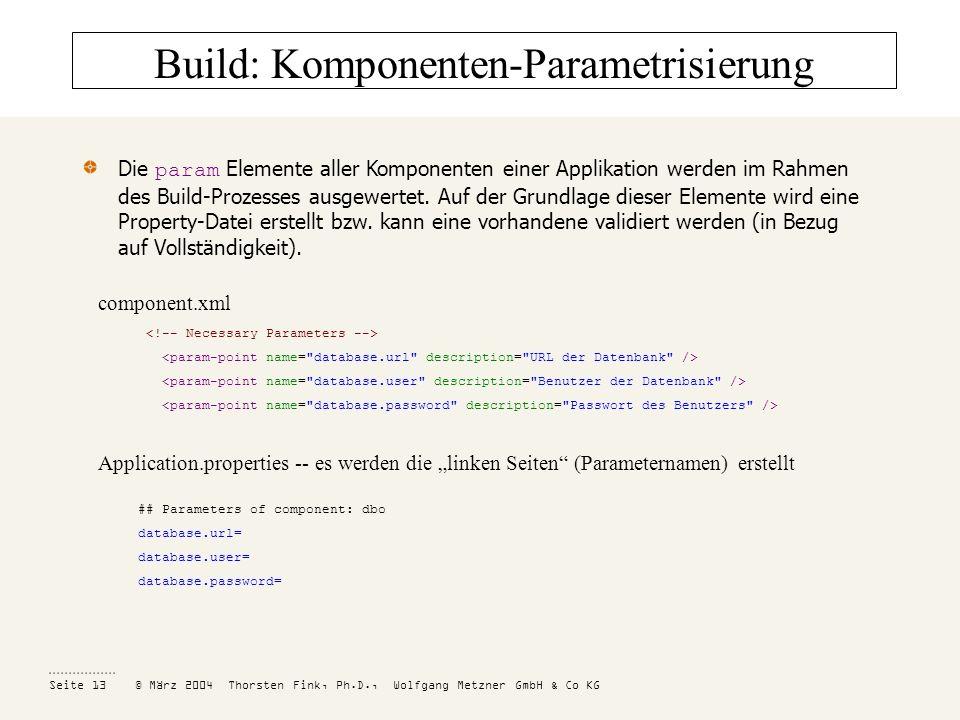 Build: Komponenten-Parametrisierung