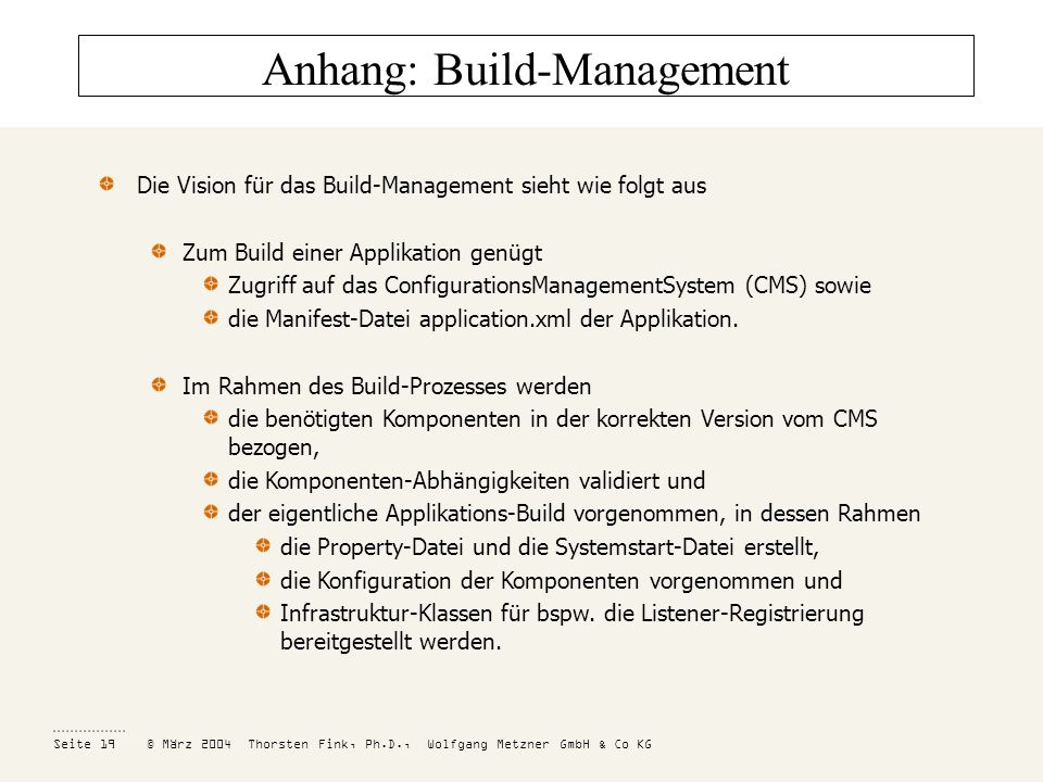 Anhang: Build-Management