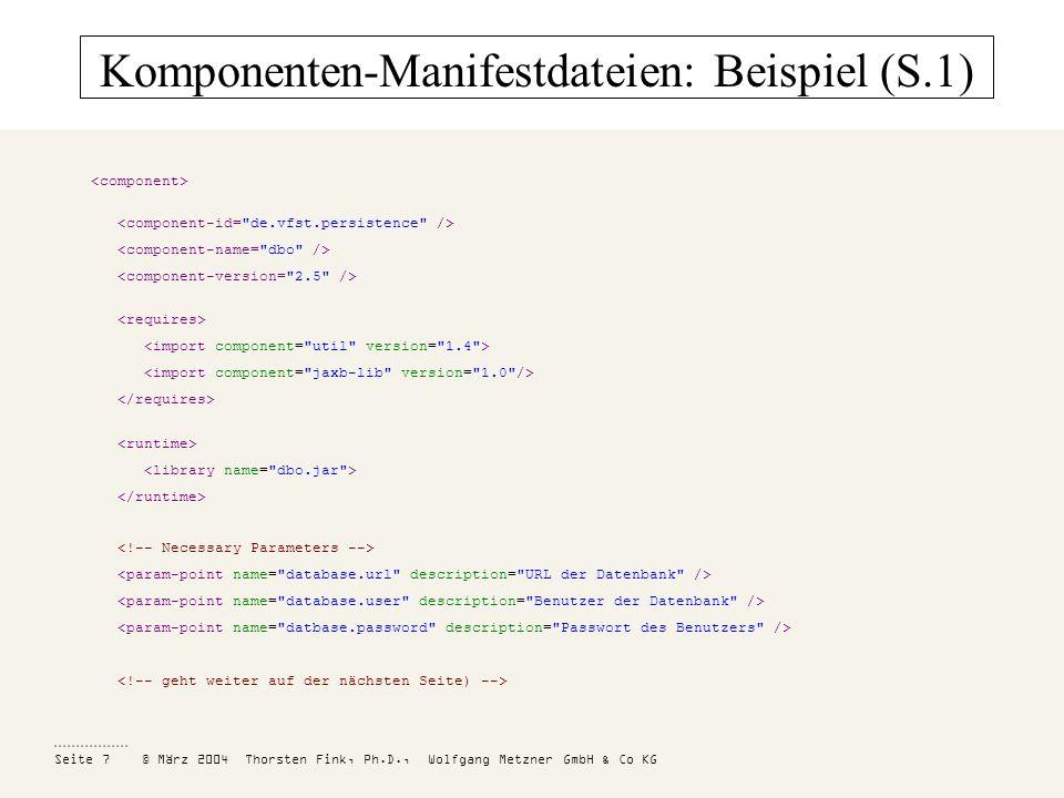 Komponenten-Manifestdateien: Beispiel (S.1)