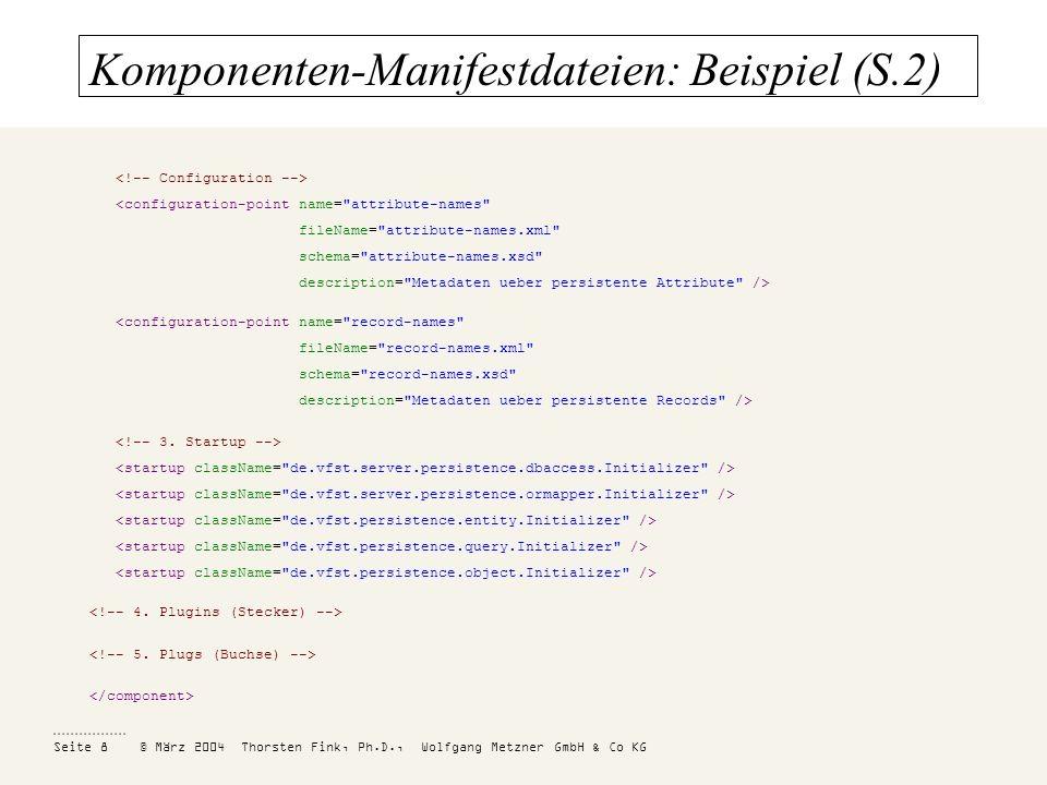 Komponenten-Manifestdateien: Beispiel (S.2)