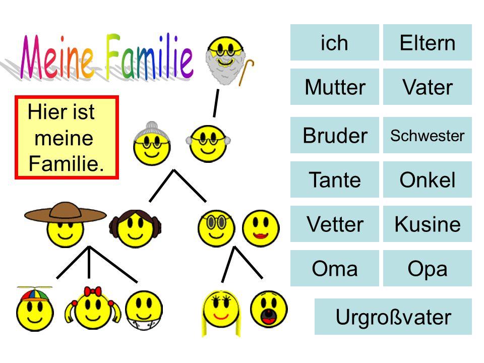 Meine Familie ich Eltern Mutter Vater Hier ist meine Familie. Bruder